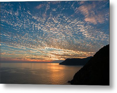 Metal Print featuring the photograph Italian Riviera Sunset by Carl Amoth