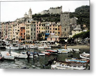 Italian Seaside Village Metal Print