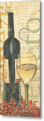 Italian Wine And Grapes 1 Metal Print