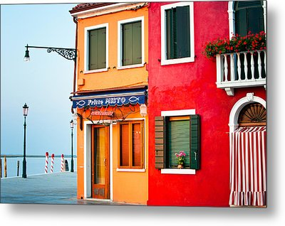 Italy Burano Fish Shop Metal Print