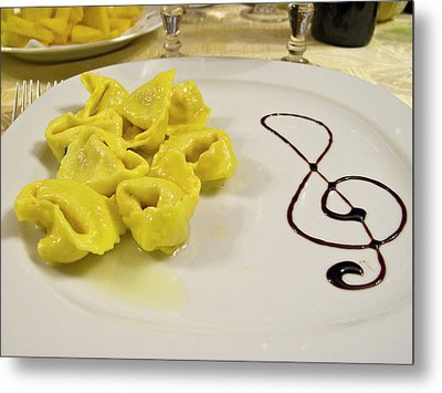 Italy, Cento A Plate Of Cheese Metal Print by Jaynes Gallery