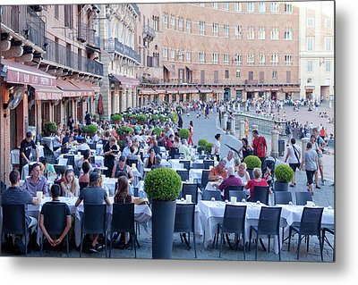 Italy, Tuscany, Piazza Del Campo - Metal Print by Panoramic Images