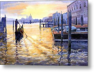 Italy Venice Dawning Metal Print by Yuriy Shevchuk