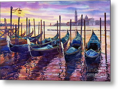 Italy Venice Early Mornings Metal Print by Yuriy Shevchuk