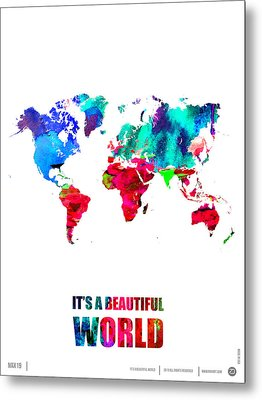 It's A Beautifull World Poster Metal Print