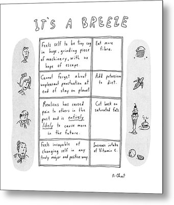 It's A Breeze Metal Print by Roz Chast
