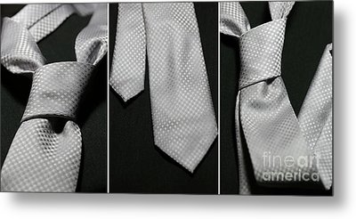 Metal Print featuring the photograph It's A Tie - Triptych by Trish Mistric