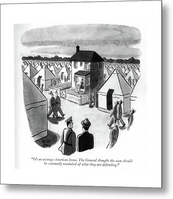 It's An Average American Home. The General Metal Print by Robert J. Day