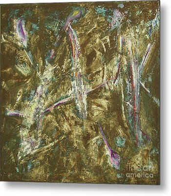 Metal Print featuring the painting It's Crazy Out There by Mini Arora