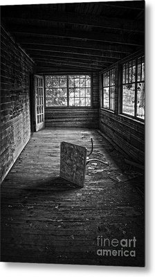 Metal Print featuring the photograph It's Empty Now by Debra Fedchin