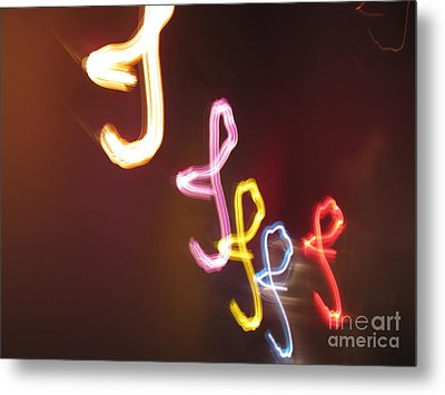 Metal Print featuring the photograph It's I... I... And More Of I. Dancing Lights Series by Ausra Huntington nee Paulauskaite