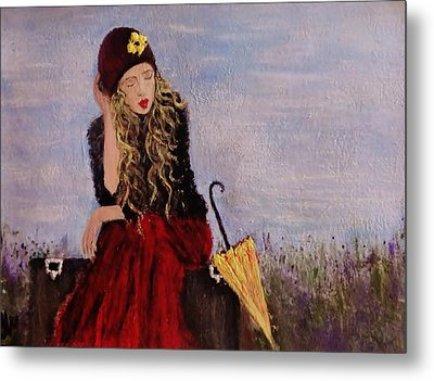 Metal Print featuring the painting It's Just A Dream... by Cristina Mihailescu