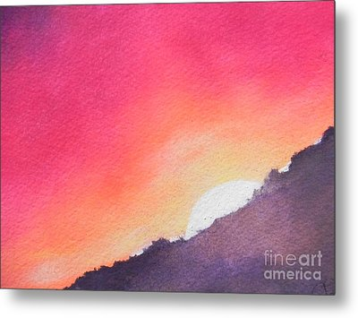 Metal Print featuring the painting It's Not About The Climb  Rather What Awaits You On The Other Side by Chrisann Ellis
