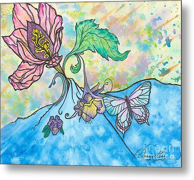 It's Ok To Be An Artist... Metal Print by Denise Hoag