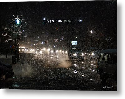 Its The Climate - Christmas Snow Metal Print by Mick Anderson