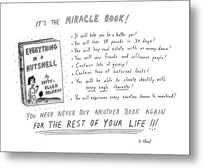 It's The Miracle Book! Metal Print