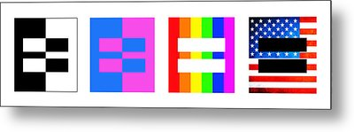 It's Time - Equal Rights For All By Sharon Cummings Metal Print by Sharon Cummings