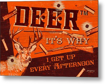It's Why Deer Metal Print by JQ Licensing