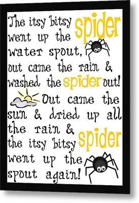 Itsy Bitsy Spider Metal Print by Jaime Friedman