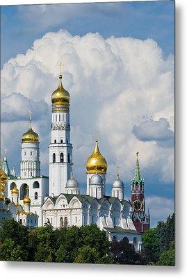 Ivan The Great Bell Tower Of Moscow Kremlin - Featured 3 Metal Print by Alexander Senin