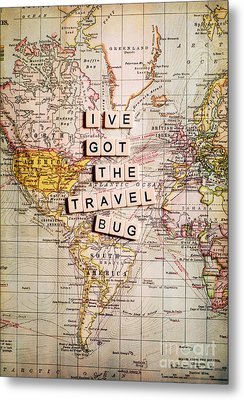 I've Got The Travel Bug Metal Print by Sylvia Cook