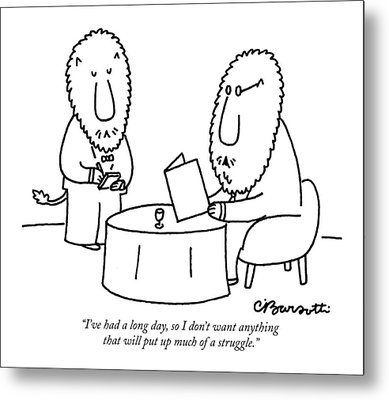 I've Had A Long Day Metal Print by Charles Barsotti