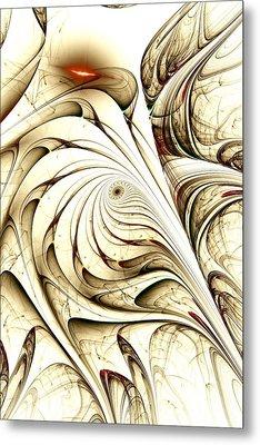 Ivory Bird Metal Print