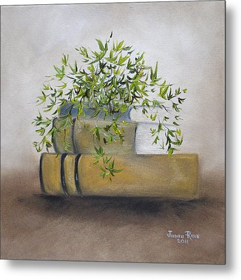 Metal Print featuring the painting Ivy League by Judith Rhue
