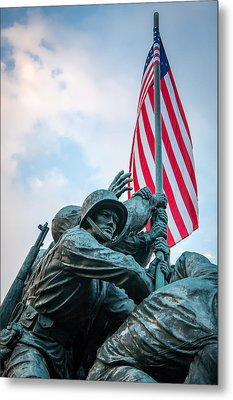 Iwo Jima Forward Metal Print