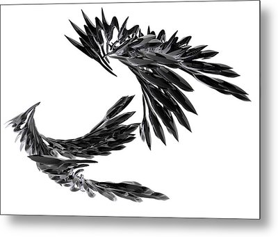 J Big   Crows Metal Print
