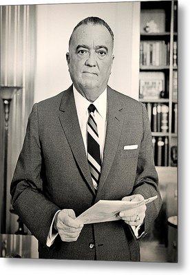 J Edgar Hoover 1961 Metal Print by Mountain Dreams