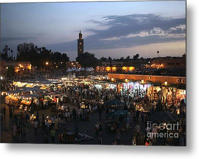 J Ma Fna Place Marrakesh Metal Print by Sophie Vigneault
