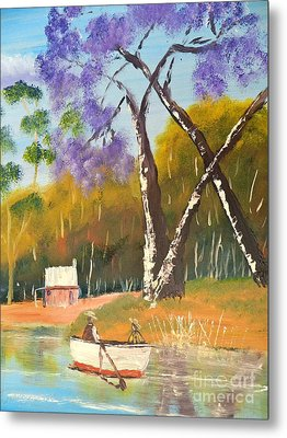 Metal Print featuring the painting Jacaranda Tree by Pamela  Meredith