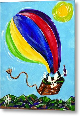 Metal Print featuring the painting Jack And Charlie Fly Away by Jackie Carpenter