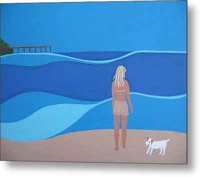 Jack At The Beach Metal Print by Sandra McHugh