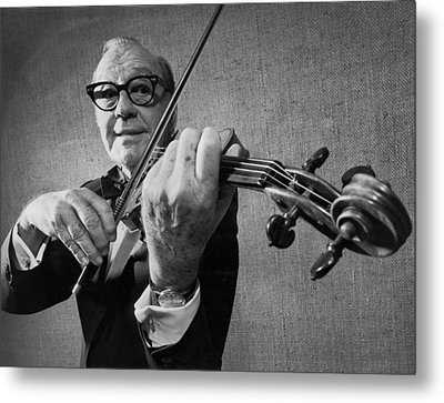 Jack Benny Farewell Metal Print by Underwood Archives