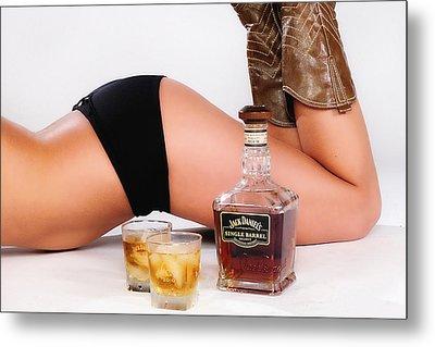 Jack Daniels Bottoms Up Metal Print by John Kiss