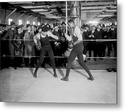 Jack Dempsey Sparring Metal Print by Underwood Archives