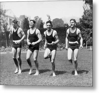 Jack Dempsey Works Out Metal Print by Underwood Archives