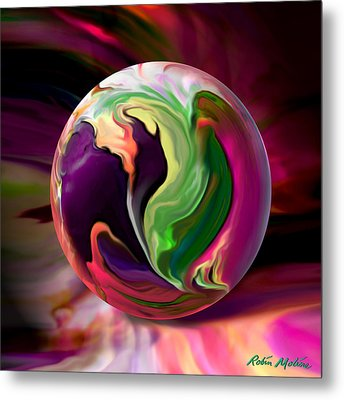 Jack In The Pulpit Globe Metal Print by Robin Moline