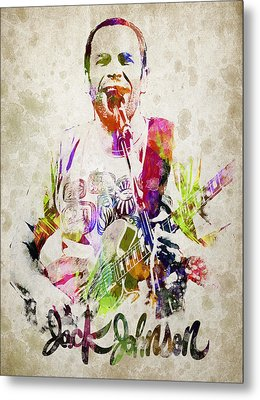 Jack Johnson Portrait Metal Print by Aged Pixel