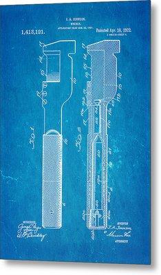 Jack Johnson Wrench Patent Art 1922 Blueprint Metal Print by Ian Monk