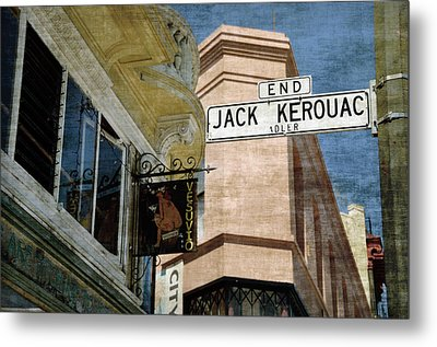 Jack Kerouac Alley And Vesuvio Pub Metal Print