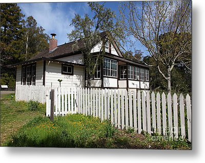 Jack London Cottage 5d22122 Metal Print by Wingsdomain Art and Photography