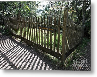 Jack London Grave Site 5d21989 Metal Print by Wingsdomain Art and Photography