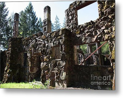Jack London Wolf House 5d22038 Metal Print by Wingsdomain Art and Photography