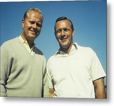 Jack Nicklaus And Arnold Palmer Metal Print by Retro Images Archive