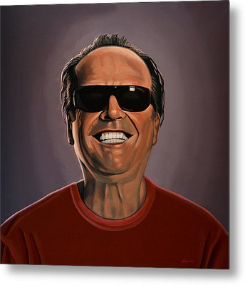Jack Nicholson 2 Metal Print by Paul Meijering