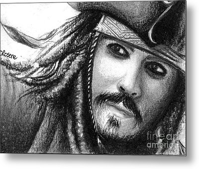 Jack Sparrow Metal Print by Crystal Rosene