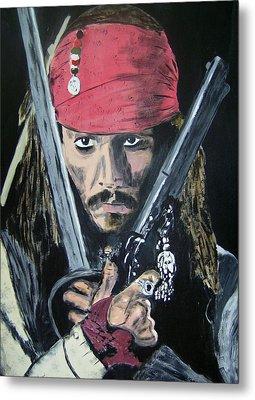 Jack Sparrow Johnny Depp Metal Print